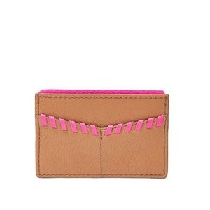 NEW FOSSIL Card Case Woven Leather SL7518231 💋